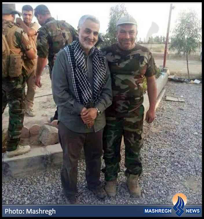 جدیدترین عکس از «حاج قاسم» در کنار مبارزین عراقی+عکس