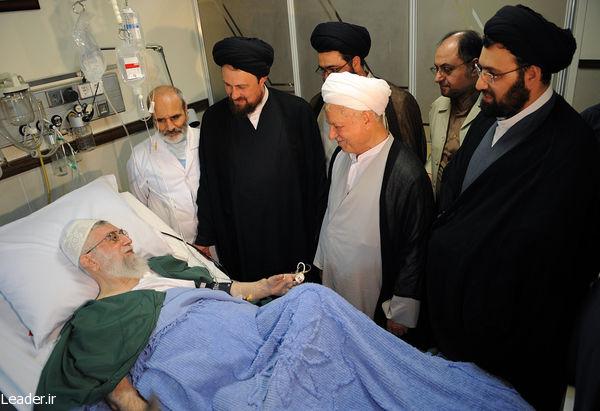 عیادت رفسنجانی و خمینی از رهبری+تصاویر