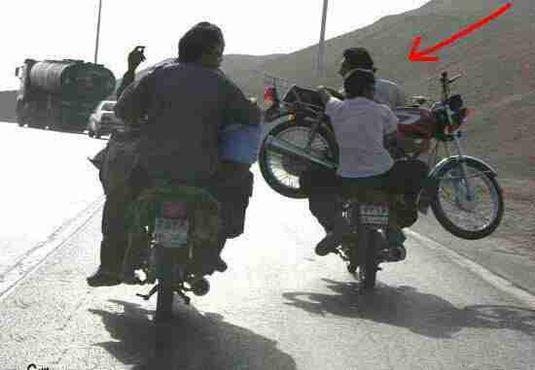 موتور سوار بر موتور در ایران!+عکس