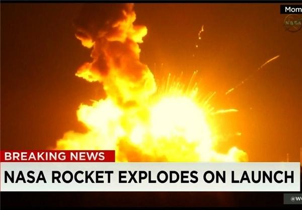 موشک ناسا ۷ ثانیه پس از پرتاب منفجر شد+فیلم