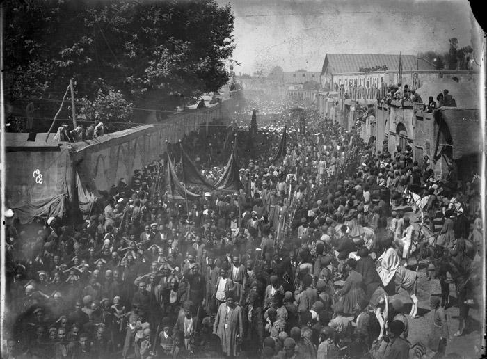 تصاویر جالب از عزاداری برای امام حسین(ع) در دوران قاجاریه