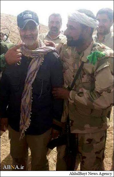 «قاسم سلیمانی» در جنگ با داعش+عکس