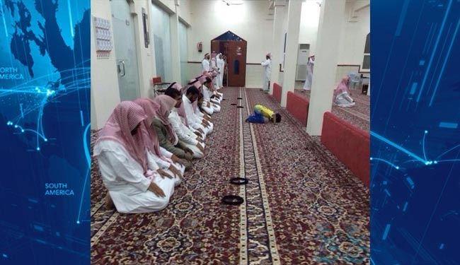 وهابیون سعودی یک بچه را امام جماعت کردند+عکس
