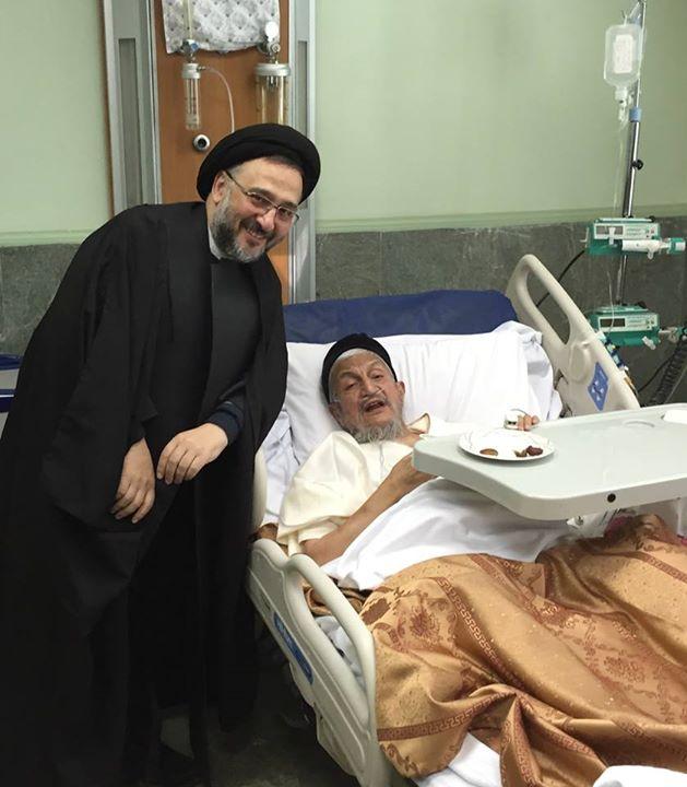 ابطحی به دیدار صانعی در بیمارستان رفت+عکس