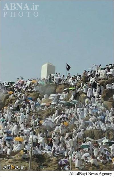 پرچم داعش در صحرای عرفات! + عکس