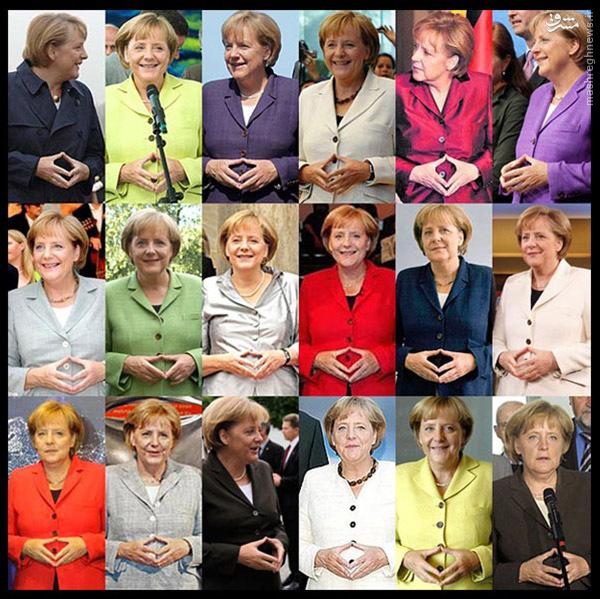 ژست های صدر اعظم آلمان+تصویر