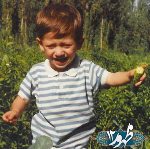 دو عکس از دوران خردسالی بابک زنجانی