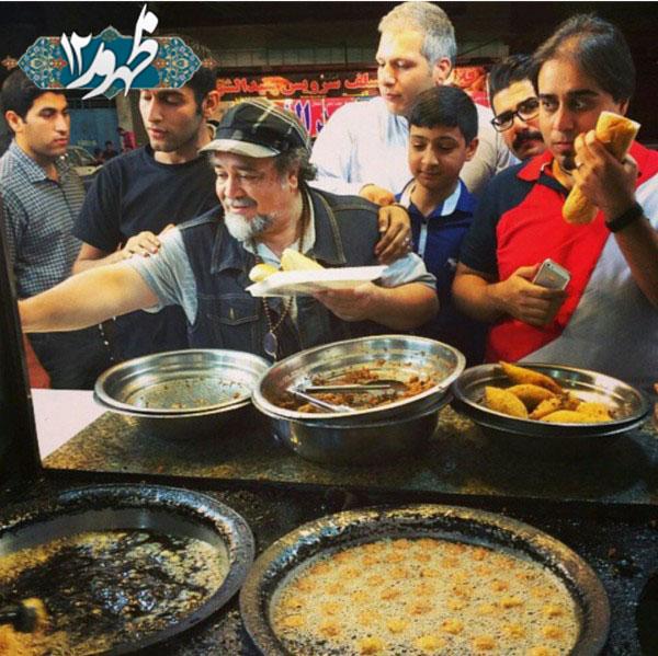 محمدرضا شریفی نیا در فلافل فروشی لشکرآباد + عکس