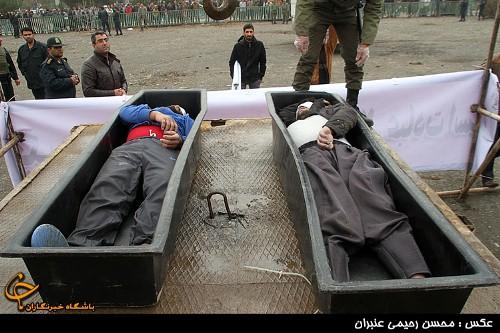 اعدام دو جانی متجاوز در مشهد + تصاویر