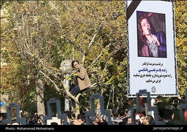 اقدام قالیباف برای تشییع جنازه مرتضی پاشایی/عکس