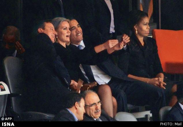 اوباما یک زن را بوسید!+تصویر