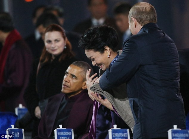 واکنش همسر رئیس جمهور چین به شیطنت پوتین+تصاویر