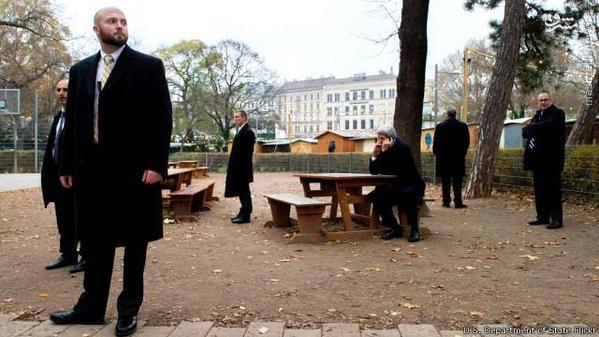 محافظین جان کری در وین+عکس