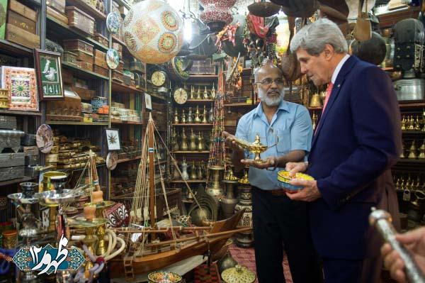 خوشگذرانی جان کری پس از مذاکرات عمان+تصاویر