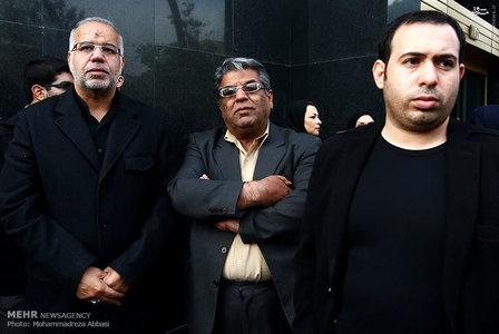 تصاویر افراد معروف در تشییع جنازه مرتضی پاشایی