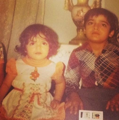 مهناز افشار و برادرش در دوران کودکی+عکس