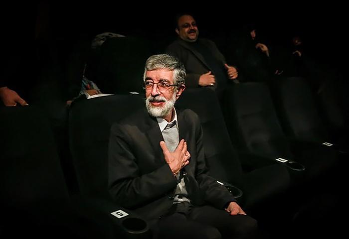 حداد عادل و همسرش فیلم شیار ۱۴۳ را در سینما دیدند+تصاویر