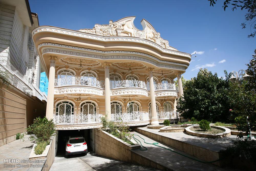 خانه هایی شبیه قصر و کاخ در تهران+تصاویر