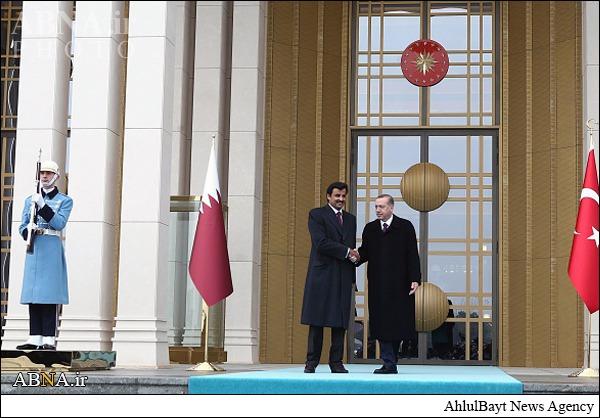 پوشش متفاوت امیر قطر در ترکیه +تصاویر