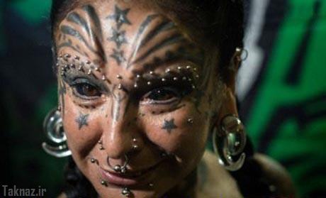 زوجی که خود را تبدیل به شیطان کرده اند+تصاویر
