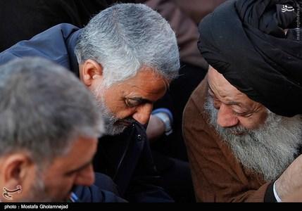 قاسم سلیمانی در مراسم تشییع سردار سامراء +تصاویر