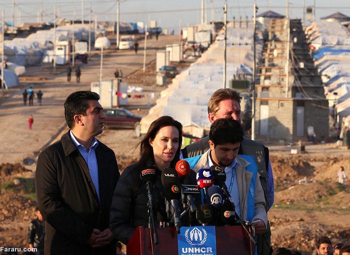 آنجیلاجولی به کردستان عراق رفت +تصاویر