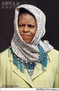 جنجال همسر اوباما در عربستان +تصاویر
