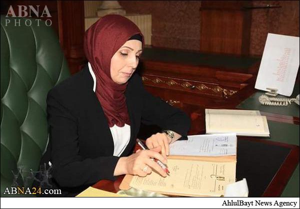 شهردار خانم بغداد آغاز به کار کرد +عکس