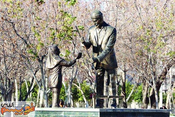 دزدی مجسمه در شیراز +عکس