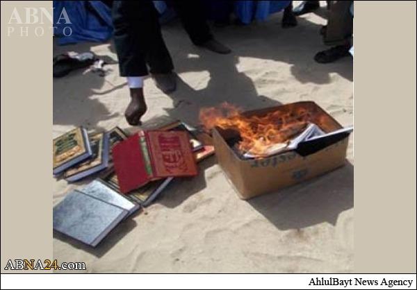 کتاب ابن تیمیه در اردن به آتش زده شد +عکس