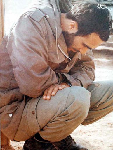 ماجرای تصویر غم زده شهید حسین خرازی چیست؟+عکس