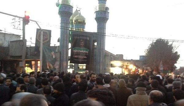 مراسم ختم مادر احمدی نژاد در قم +تصاویر