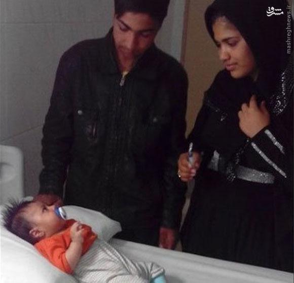 فرزند جوان ترین والدین ایرانی،رایگان مداوا شد +عکس