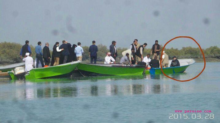 قایق سواری روحانی در قشم +عکس