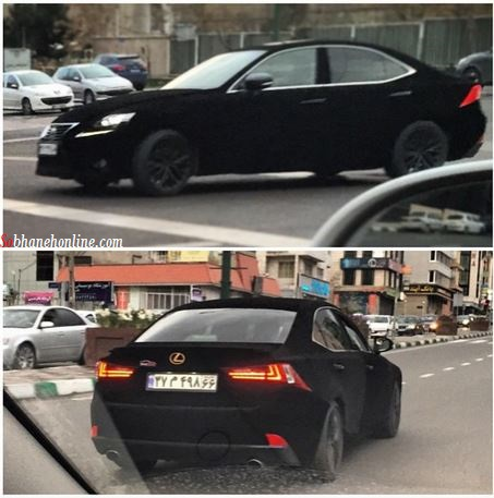 لکسوس با بدنه مخمل در تهران +عکس
