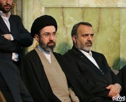 سید مجتبی خامنه ای در حاشیه سخنرانی پدرش در مشهد +عکس