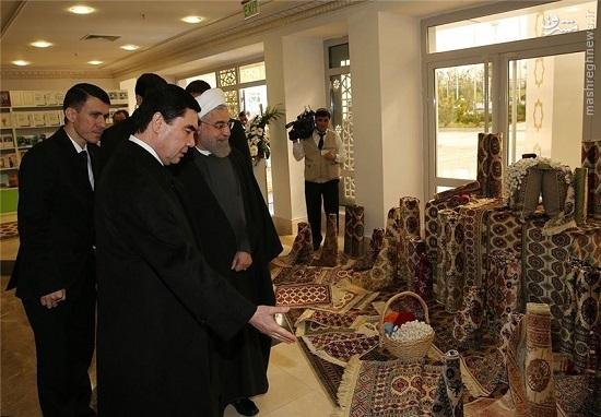 هدیه ویژه روحانی به رئیس جمهور ترکمنستان +تصاویر