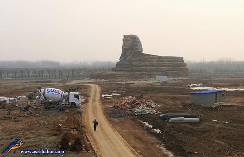 چین مجسمه ابوالهول قلابی را ساخت +تصاویر
