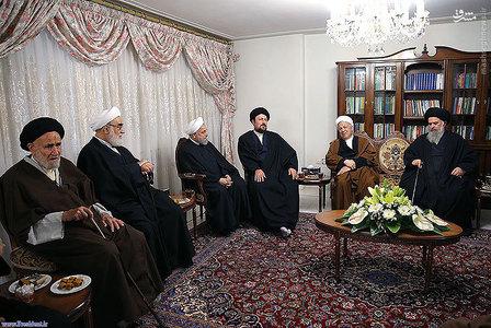 حضور مسئولان نظام در منزل روحانی +تصاویر