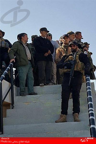 سردار قاسم سلیمانی در میدان جنگ عراق + تصاویر