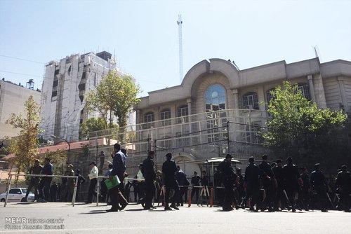 تدابیر امنیتی در مقابل سفارت عربستان + تصاویر