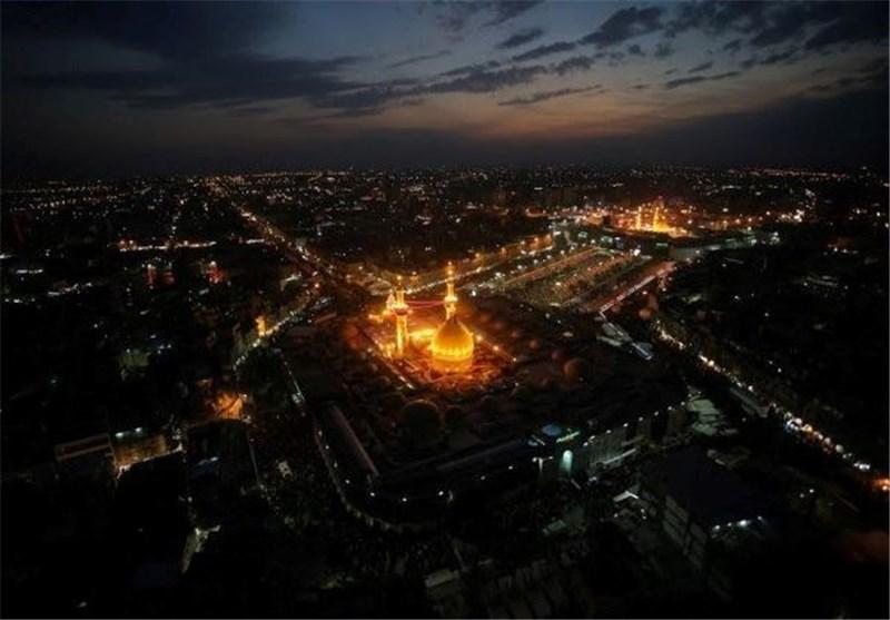 تصاویر هوایی از حرم امام حسین(ع) + فیلم