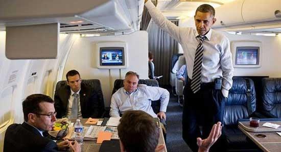 باراک اوباما این هواپیما را سوار میشود + تصاویر