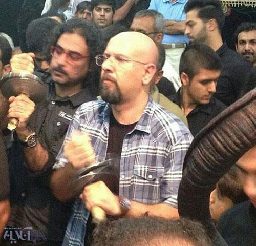 گوینده جنابخان،مشغول عزاداری در بوشهر + عکس
