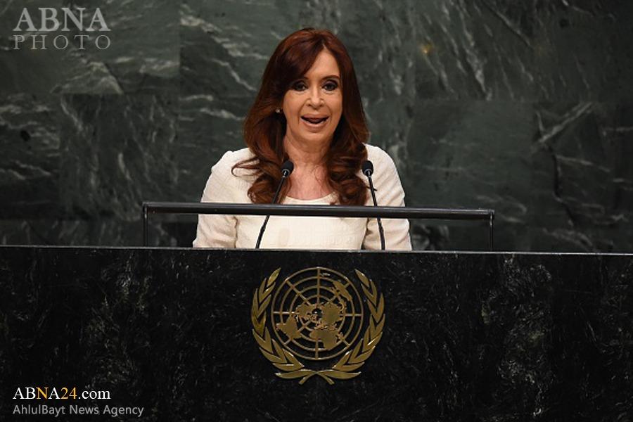 سخرانی آتشین رئیس جمهور آرژانتین در سازمان ملل + تصاویر