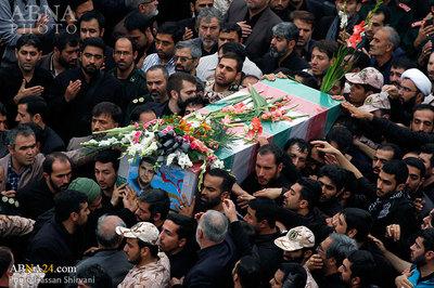 ویدئو مراسم تشییع پیکر مطهر دو پاسدار ایرانی مدافع حرم