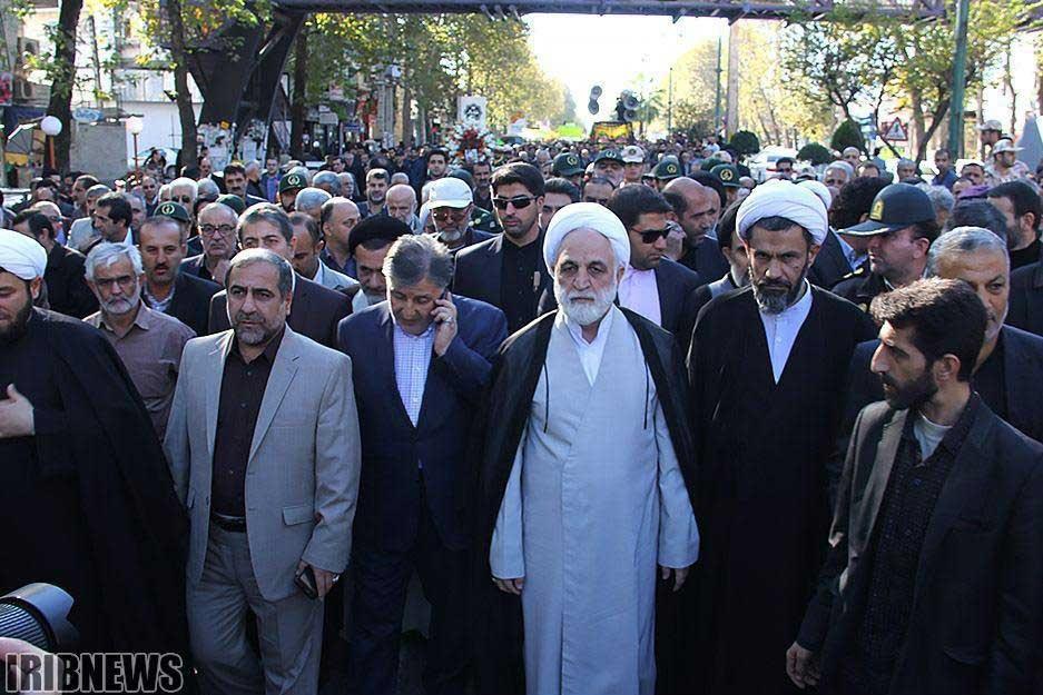 تصویر اژهای و محافظانش در روز 13 آبان