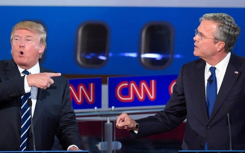 ترامپ: برادرت دروغ گفت، عراق سلاح کشتار جمعی نداشت / جب بوش : حالم از تو بهم میخورد