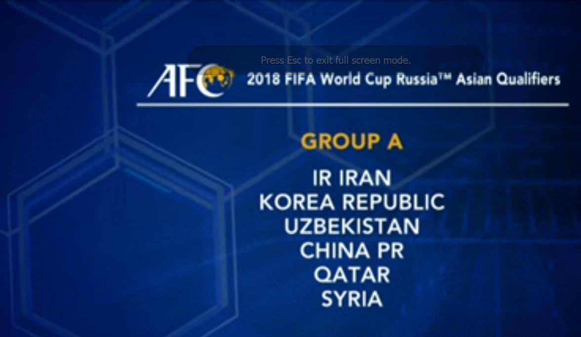 حریف های ایران در مقدماتی جام جهانی 2018 روسیه
