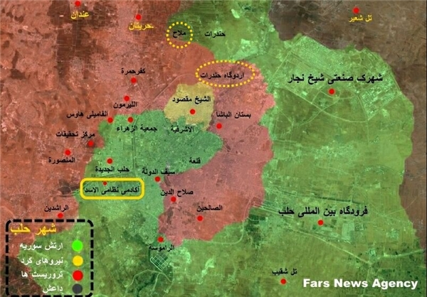 هلاکت 90 تروریست توسط ارتش سوریه در غرب حلب